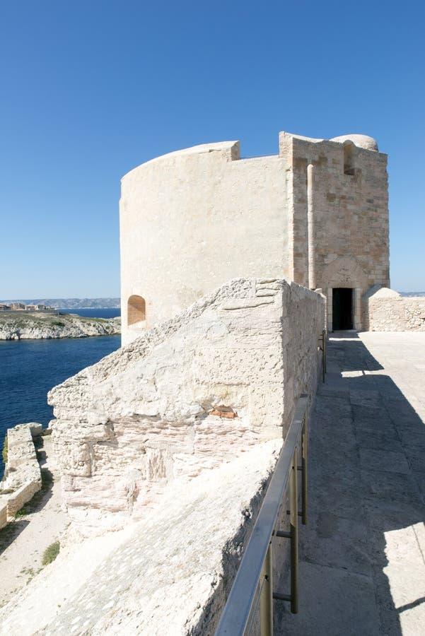 Op het dak van Chateau d'If, Marseille, Frankrijk stock fotografie