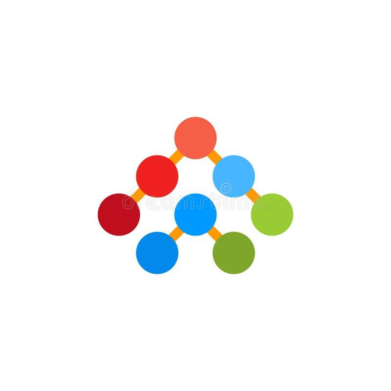 Op het embleem van het pijlsymbool stock illustratie