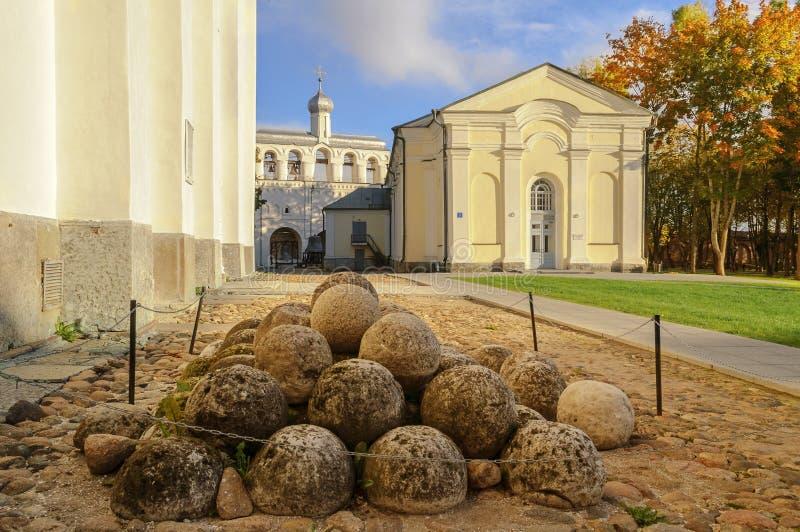 Op het grondgebied van Novgorod het Kremlin stock foto
