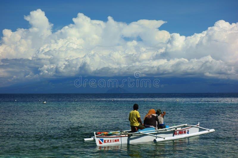 Op het horizoneiland Mindanao stock foto