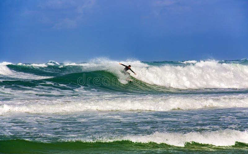 Op het Middellandse Zee geschikte weer voor het surfen royalty-vrije stock foto