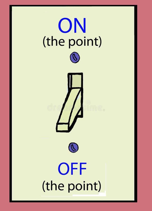 Op het punt vector illustratie