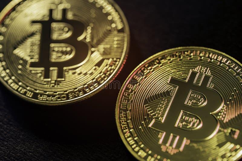 Op het sluiten op bitcointecnology royalty-vrije stock foto's