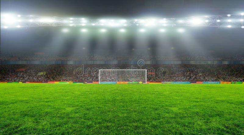 Op het stadion stock foto