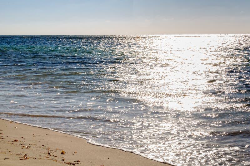 Op het strand - Cervantes stock foto