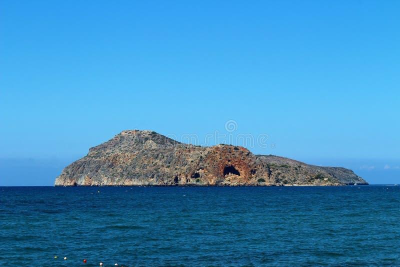Op het strand van Platanias in Kreta royalty-vrije stock fotografie