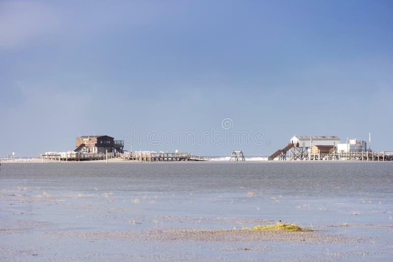 Op het Strand van St peter-Ording royalty-vrije stock fotografie