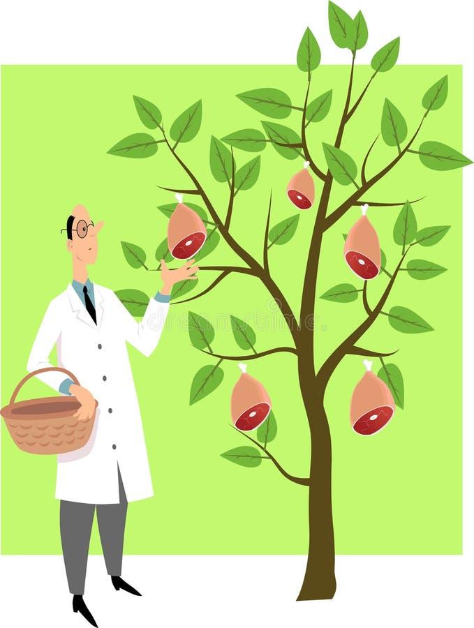 Op installatie-gebaseerde voedselillustratie royalty-vrije illustratie