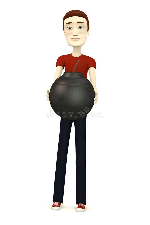 Download Op jongen met bom stock illustratie. Illustratie bestaande uit grafiek - 29504848