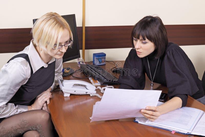 Op kantoor stock fotografie