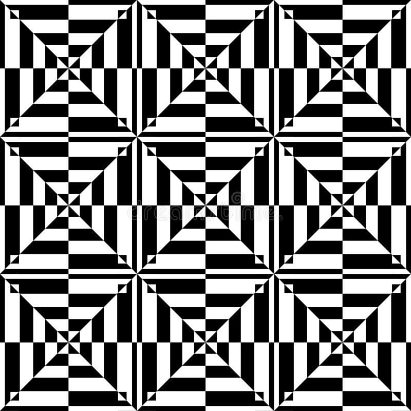 Op kunstontwerp. Naadloos geometrisch patroon. stock illustratie