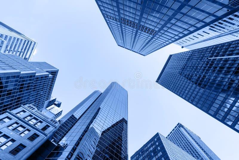 Op mening in financiële districtg stock fotografie