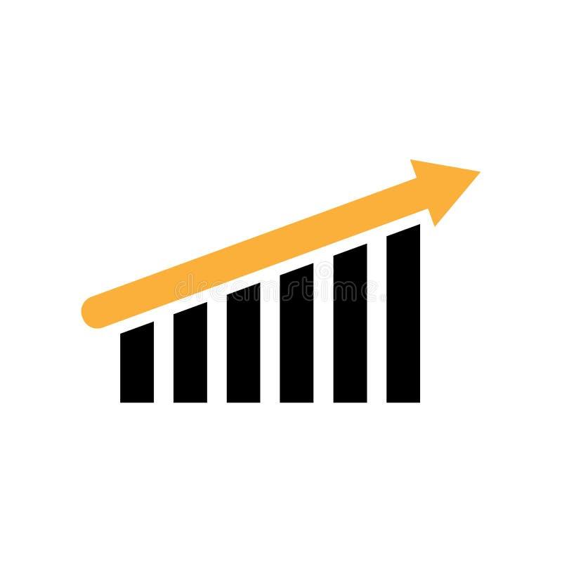 Op neigend grafiekpictogram Geïsoleerd op wit vector illustratie