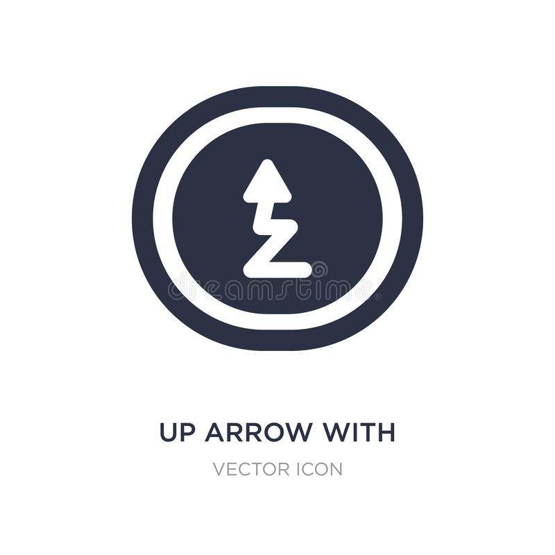 op pijl met straal vindend pictogram op witte achtergrond Eenvoudige elementenillustratie van UI-concept stock illustratie