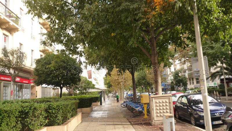 Op straat in Nice stock afbeelding
