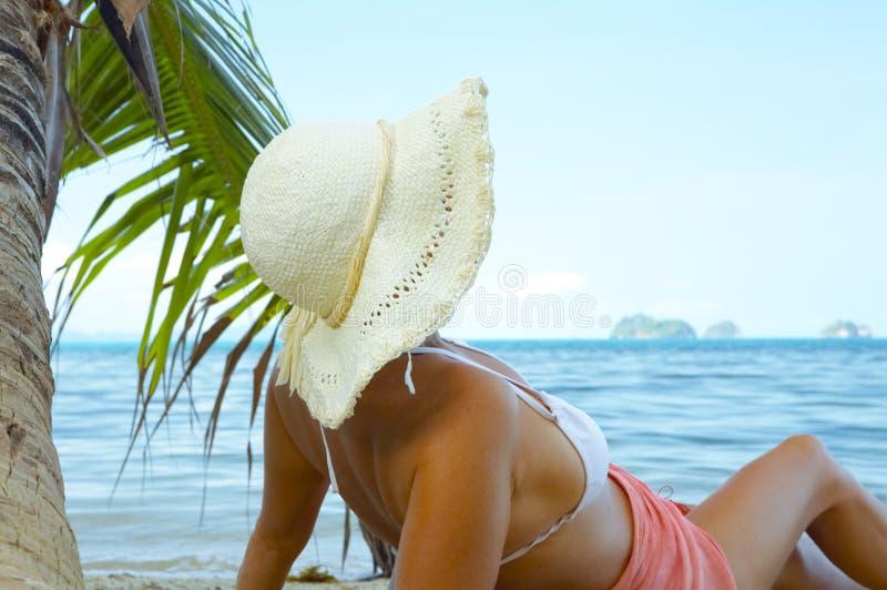 Op strand stock foto