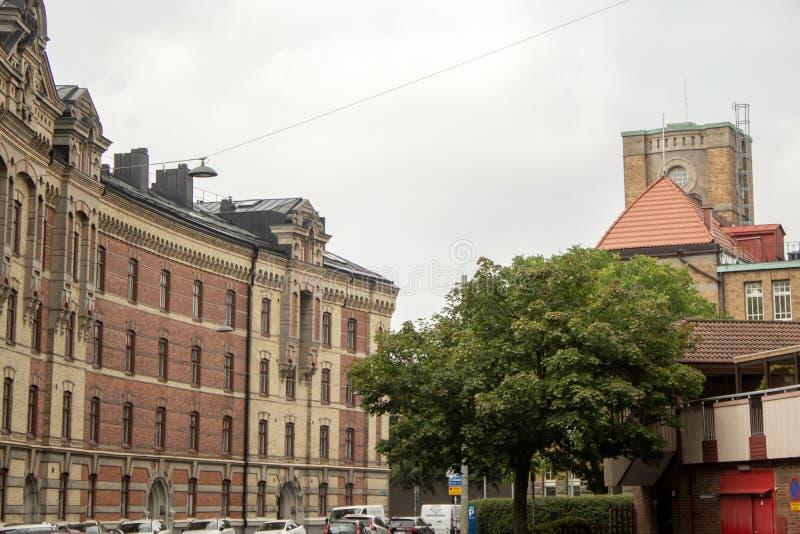 Op straten van Gothenburg stock foto