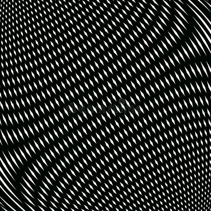 Op sztuka, mora wzór Relaksujący hipnotyczny tło z geometr royalty ilustracja