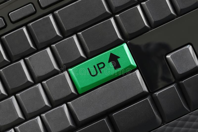 OP tekst ga knoop van zwart toetsenbord in royalty-vrije stock foto's
