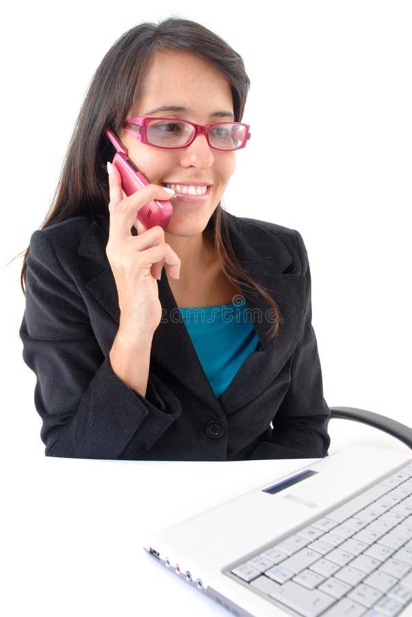 Op Telefoon royalty-vrije stock afbeelding