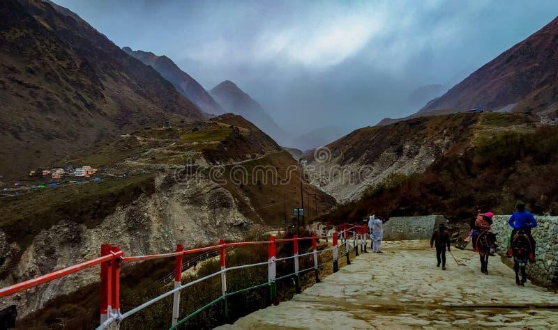Op trek van Kedarnath-route royalty-vrije stock foto's