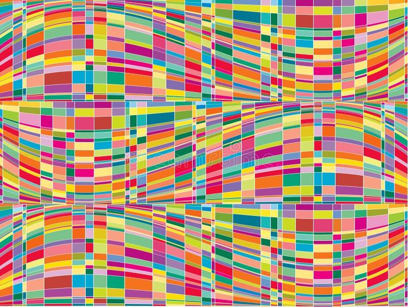 Op van de de kleurenmatrijs van het mozaïek art. stock illustratie