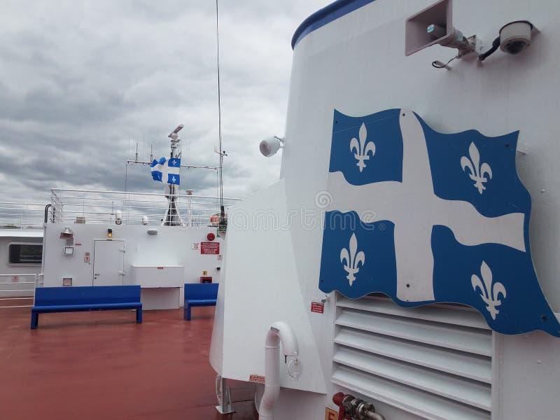 Op veerboot tussen Quebec en Levis Canada stock foto's