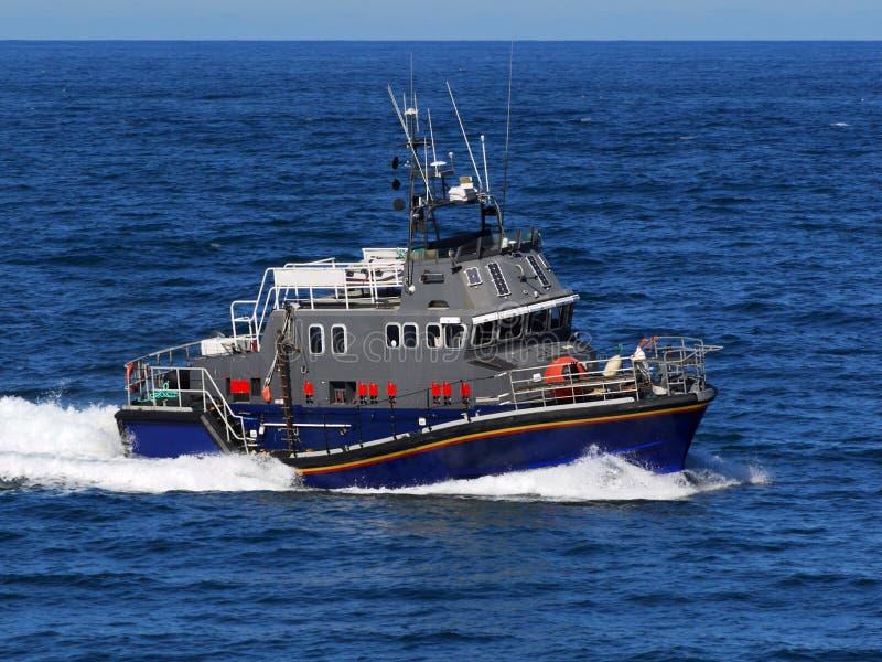 Op zee hoge snelheidsambacht royalty-vrije stock afbeelding