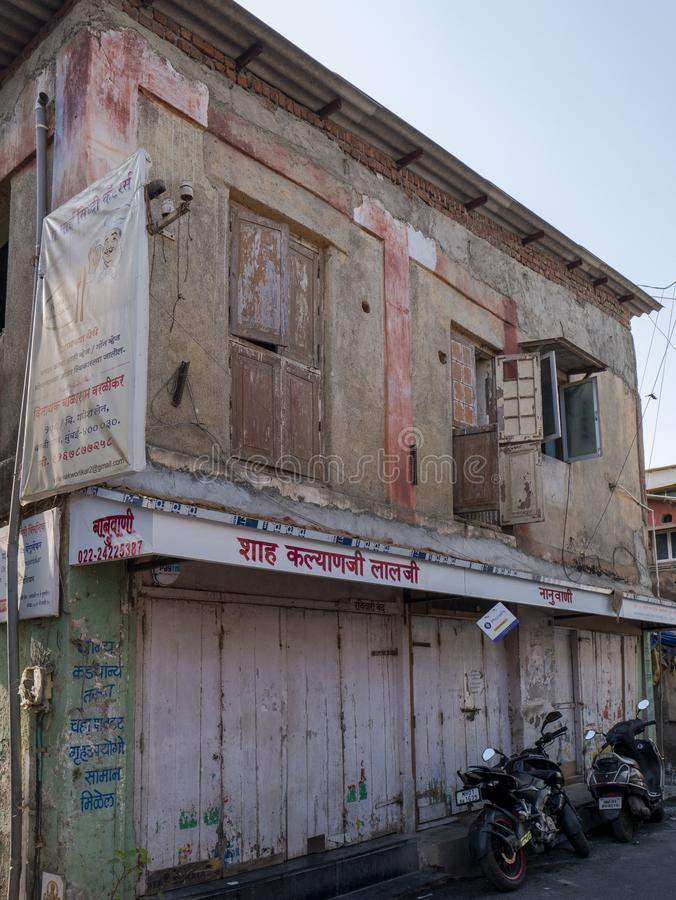 Op zondaglevensstijl van de vissersmens Worli Koliwada; Bombay Mumbai stock afbeeldingen