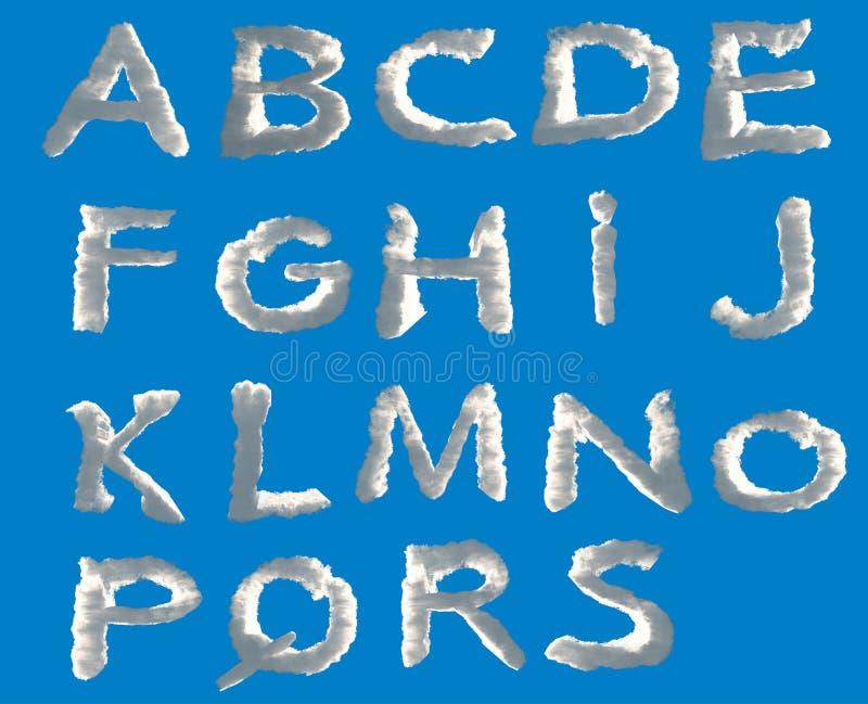 Opacifie l'alphabet illustration libre de droits