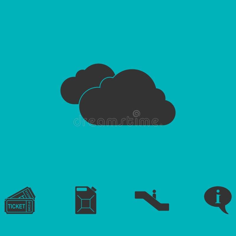 Opacifie l'icône à plat illustration libre de droits