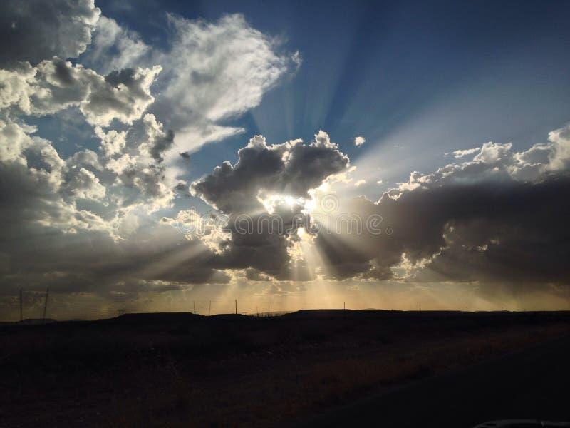 Opacifie le coucher du soleil photos libres de droits