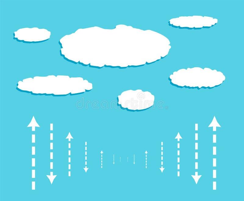 Opacifiez avec des signaux de données sous la forme des flèches illustration de vecteur