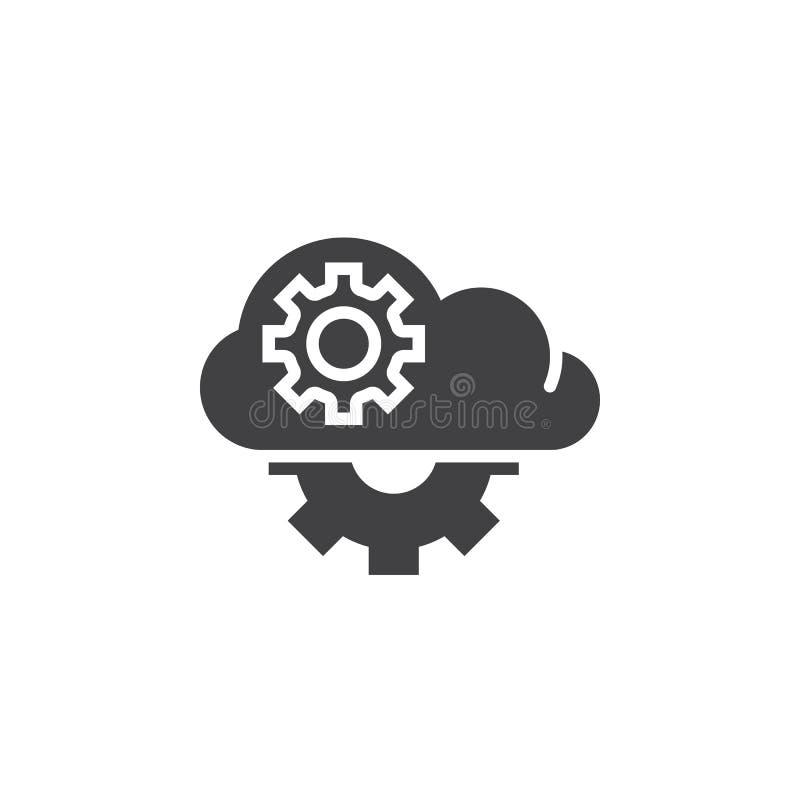 Opacifiez avec le vecteur d'icône de vitesses, signe plat rempli, pictogramme solide illustration stock