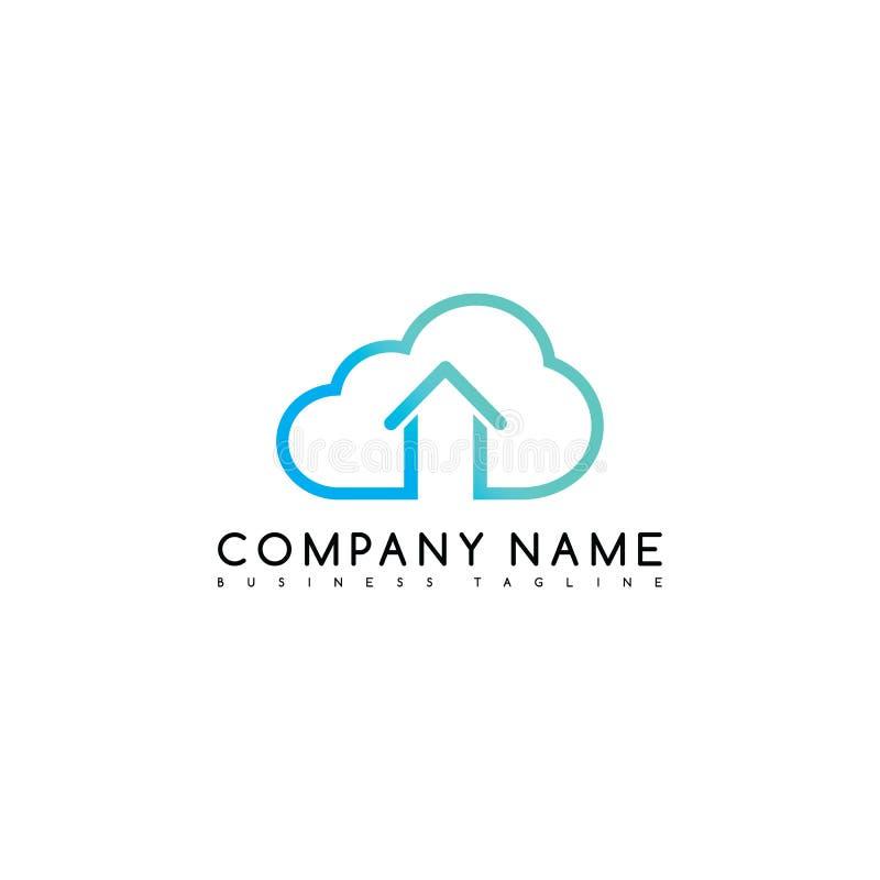 opacifiez l'art à la maison de logotype de logo de calibre de société de marque de causerie illustration stock