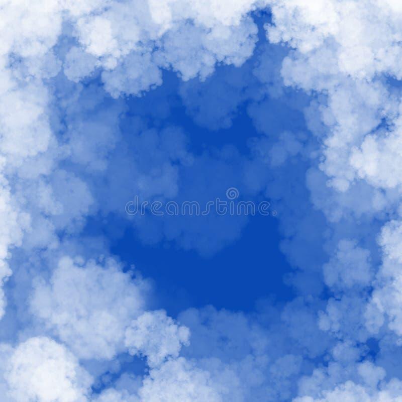 Opacifiez le cadre sur le cadre de fond de ciel bleu avec le copyspace illustration de vecteur