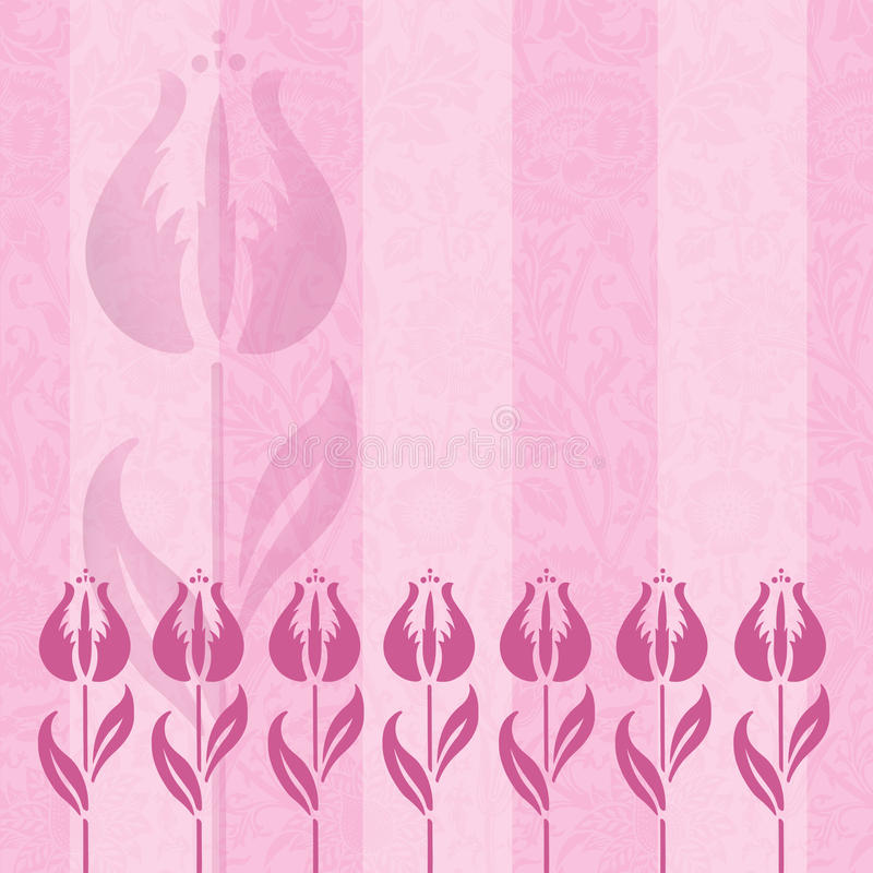 Opacità dentellare del tulipano royalty illustrazione gratis
