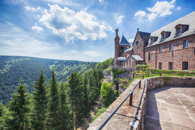 opactwa Alsace France mont Odile sainte zdjęcie stock