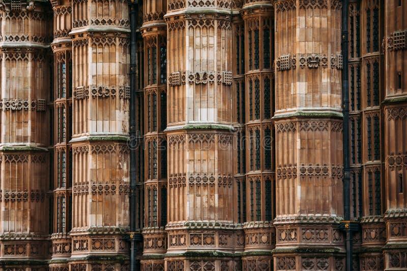 Opactwo Abbey kolumn ściana, Londyn, Zjednoczone Królestwo fotografia royalty free