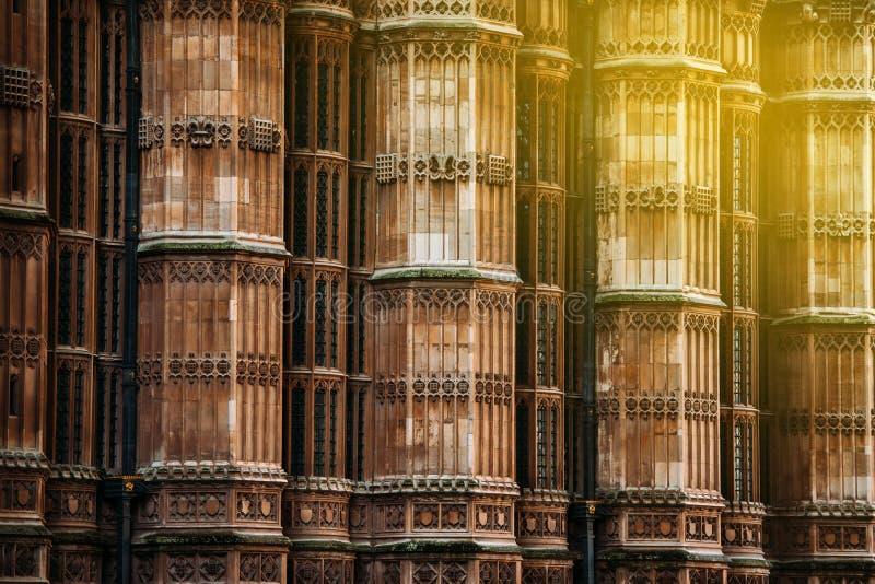 Opactwo Abbey kolumn ściana, Londyn, Zjednoczone Królestwo zdjęcia royalty free