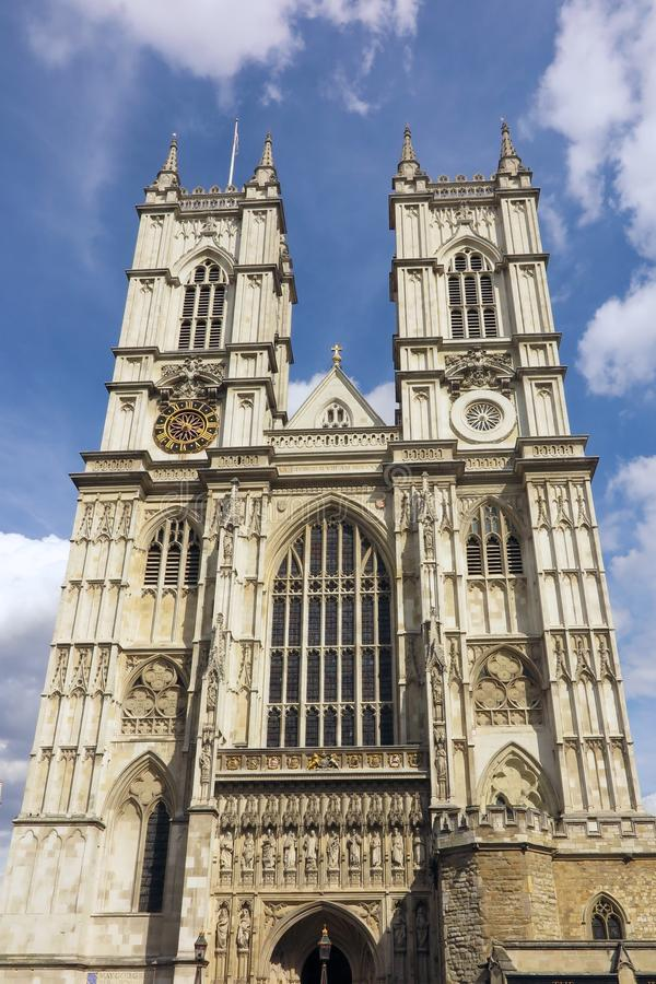 Opactwo Abbey, Londyn, niebieskie niebo dzień zdjęcie stock