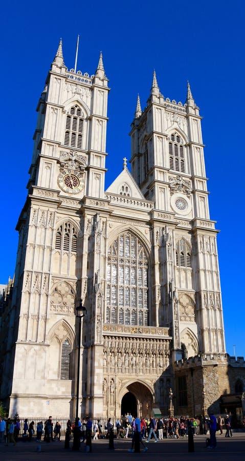 Opactwo Abbey, Zachodnia fasada, Londyn, UK obraz royalty free