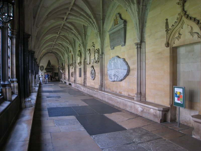 opactwo cloisters Westminster obraz royalty free