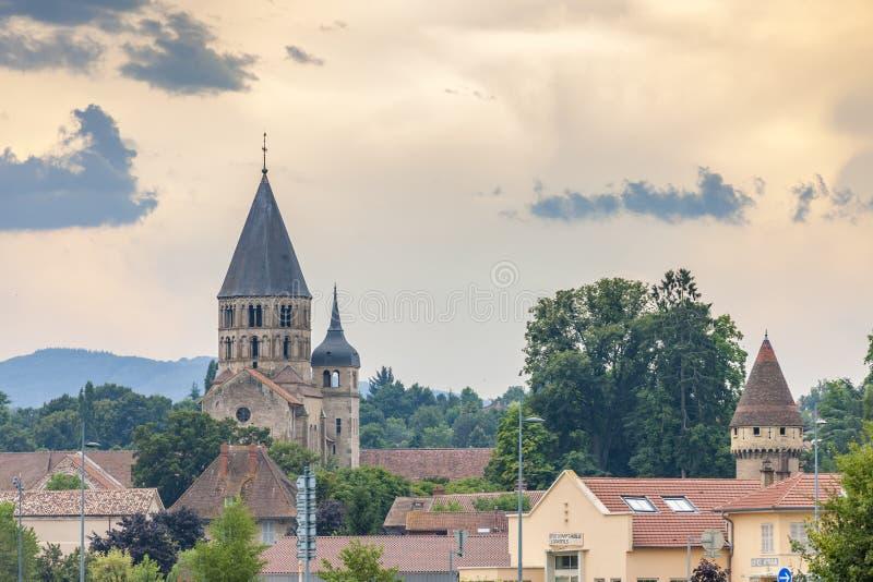 Opactwo Cluny, Burgundy, Francja fotografia royalty free