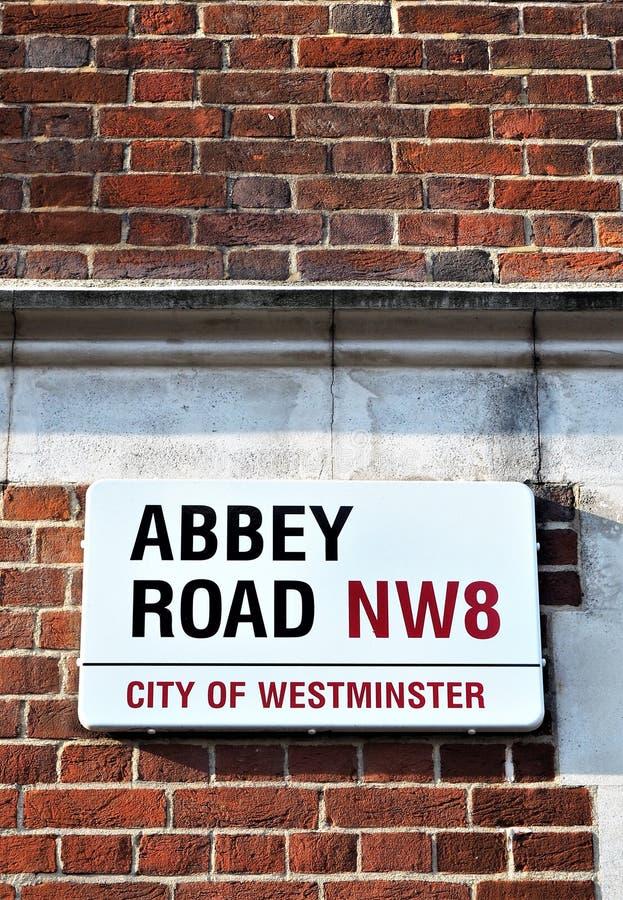 Opactwo Drogowy znak uliczny Północny Londyn, obraz royalty free