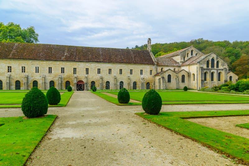 Opactwo Fontenay obrazy stock