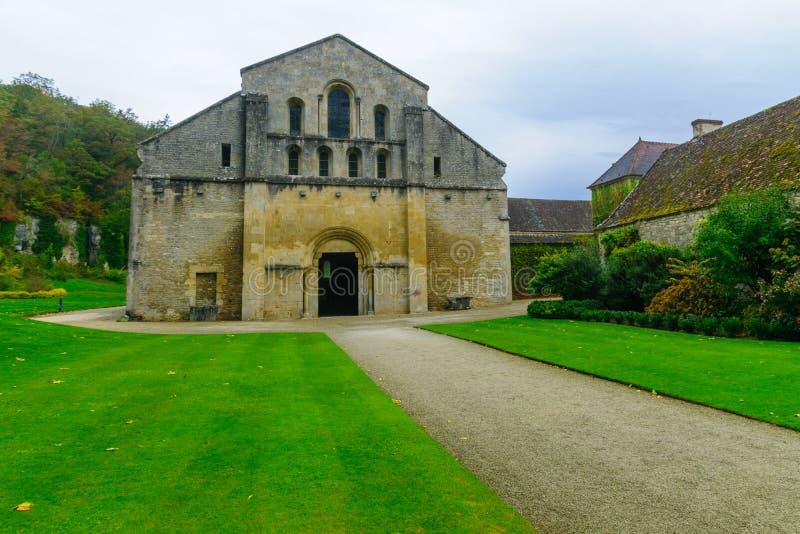 Opactwo Fontenay zdjęcie royalty free