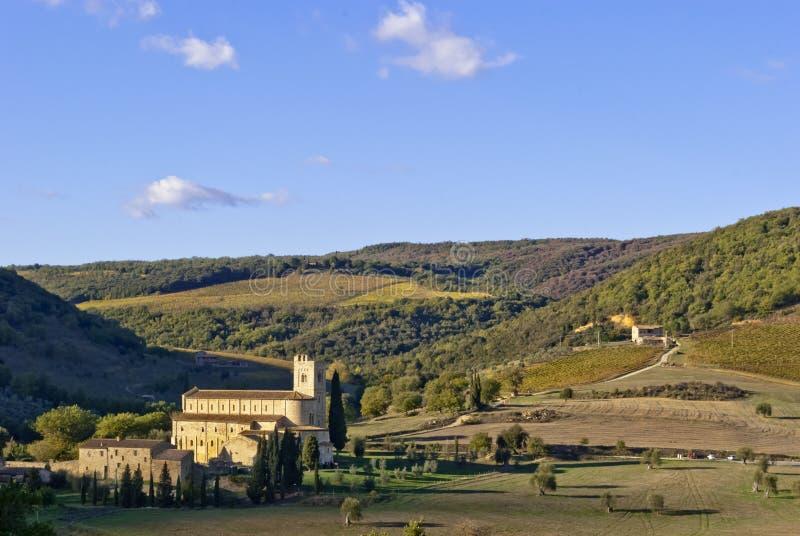 Opactwo sant'Antimo, Tuscany obraz royalty free