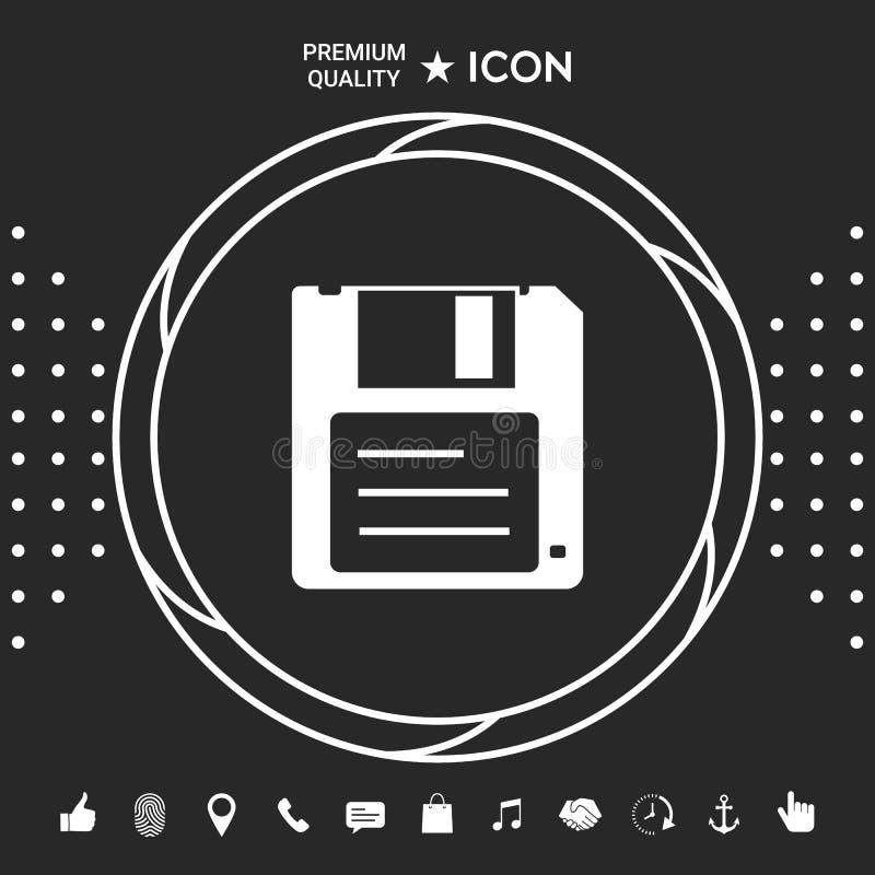 Opadającego dyska ikona Graficzni elementy dla twój designt royalty ilustracja