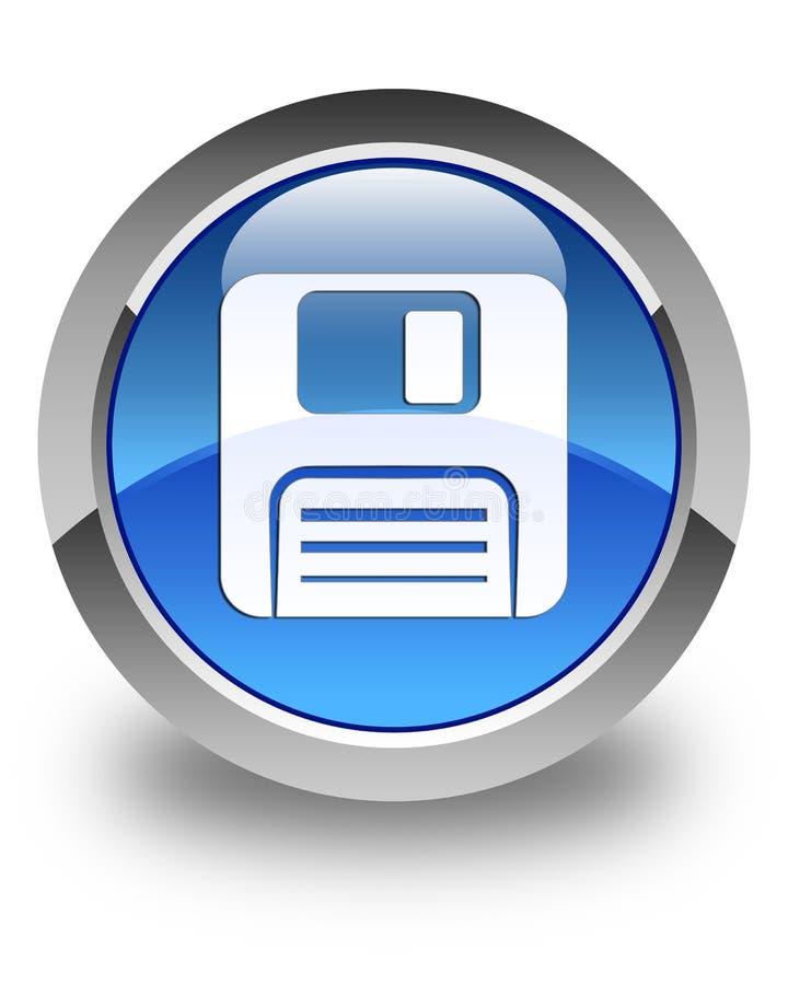 Opadającego dyska ikony glansowany błękitny round guzik royalty ilustracja